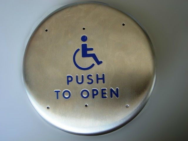"Anti Removal 6"" Round Push To Exit Switch , Handicap Door Disability Access Systems"